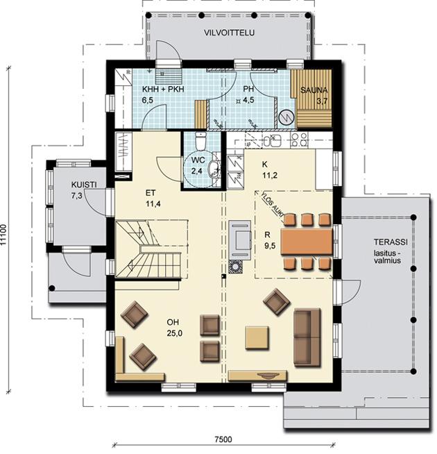 Дома серии романтик 155 этаж дома 1