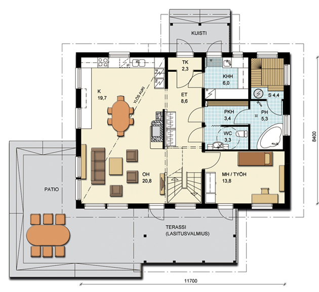 Каркасные дома 2 этажа